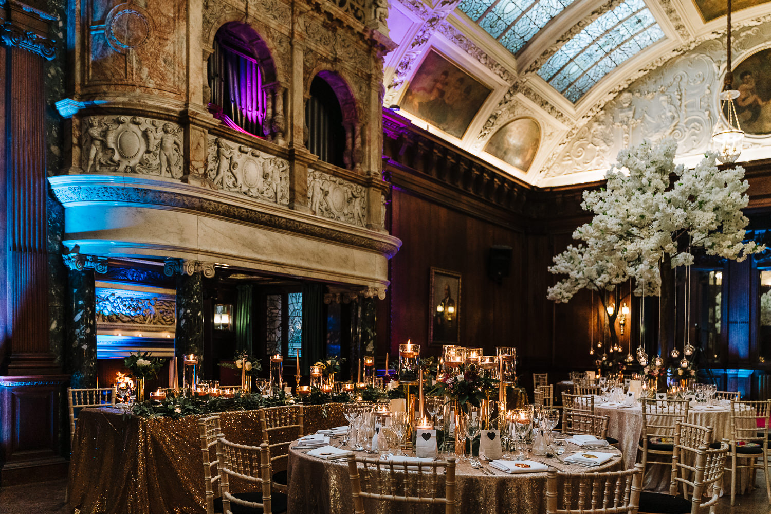The Hall at Thornton Manor - decorated by Kelly Louise Floral Artistry