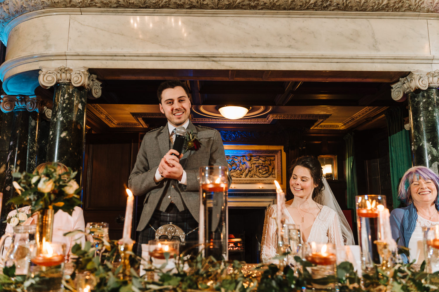 Grooms speech at Thornton Manor