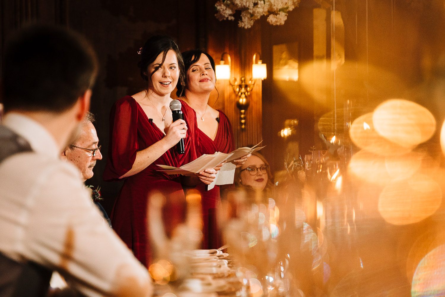 Bridesmaids speech at Thornton Manor