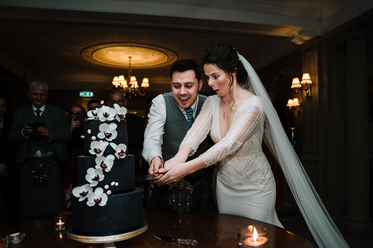 Cake cut at Thornton Manor