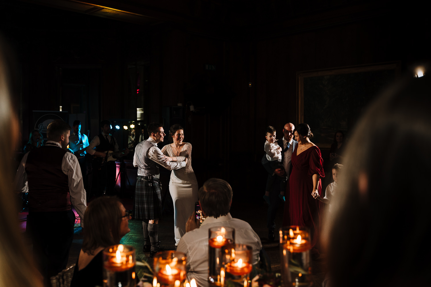 First dance at Thornton Manor shooting from the crowd