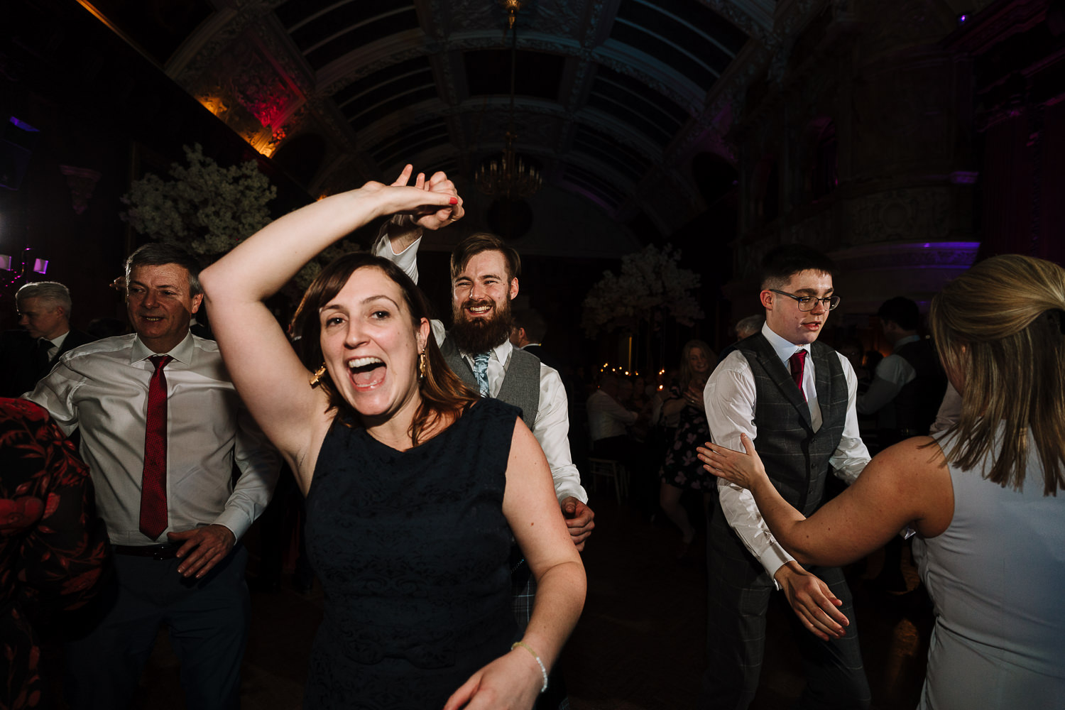 Ceilidh dancing at Thornton Manor