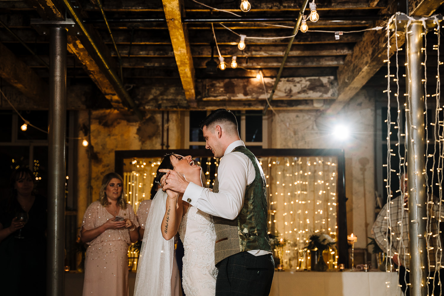 First dance photo at Holmes Mill