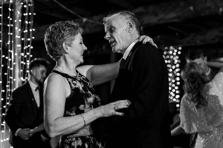 Parents of the groom dancing
