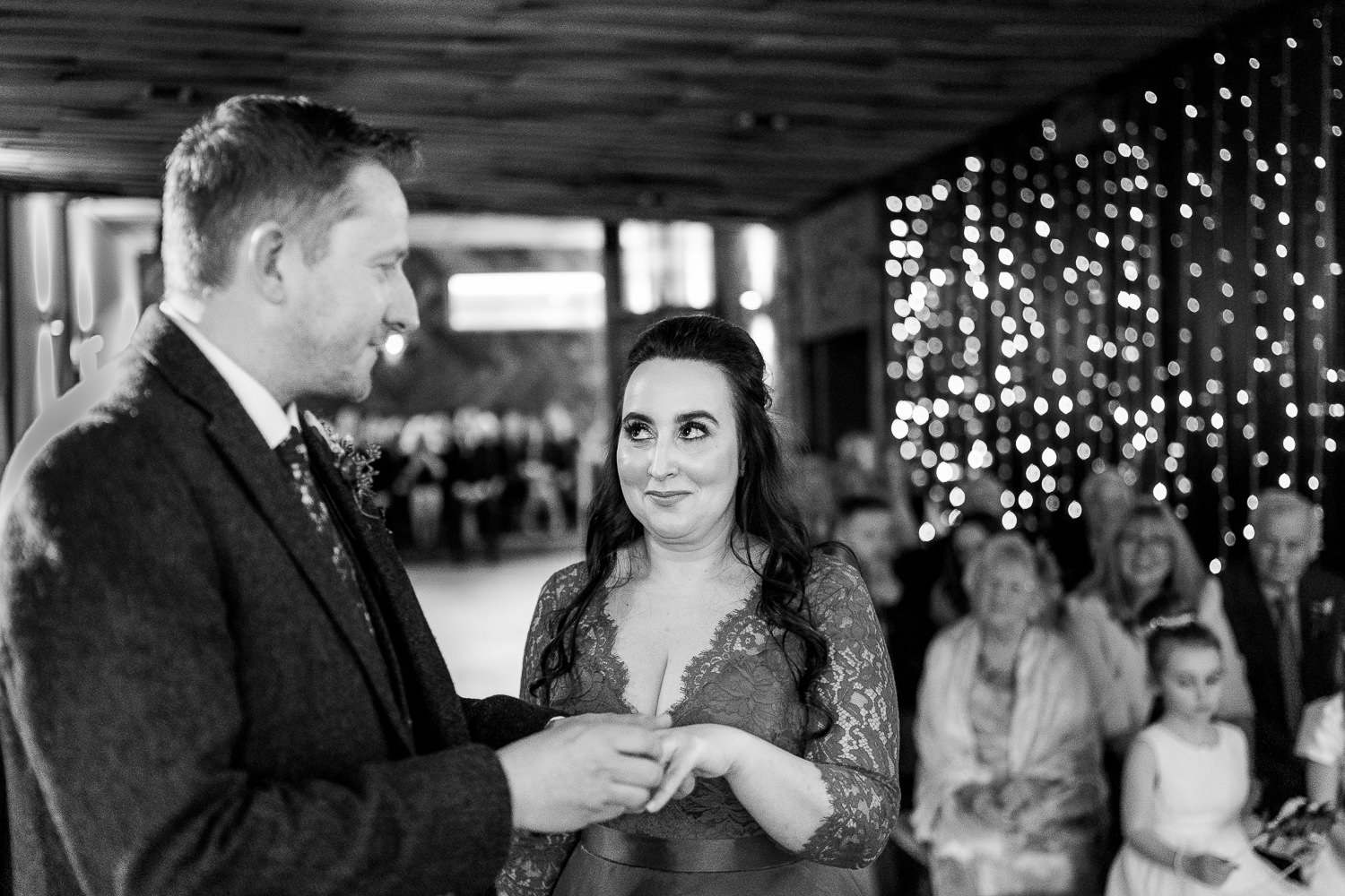 Wedding vows at Owen House Wedding Barn