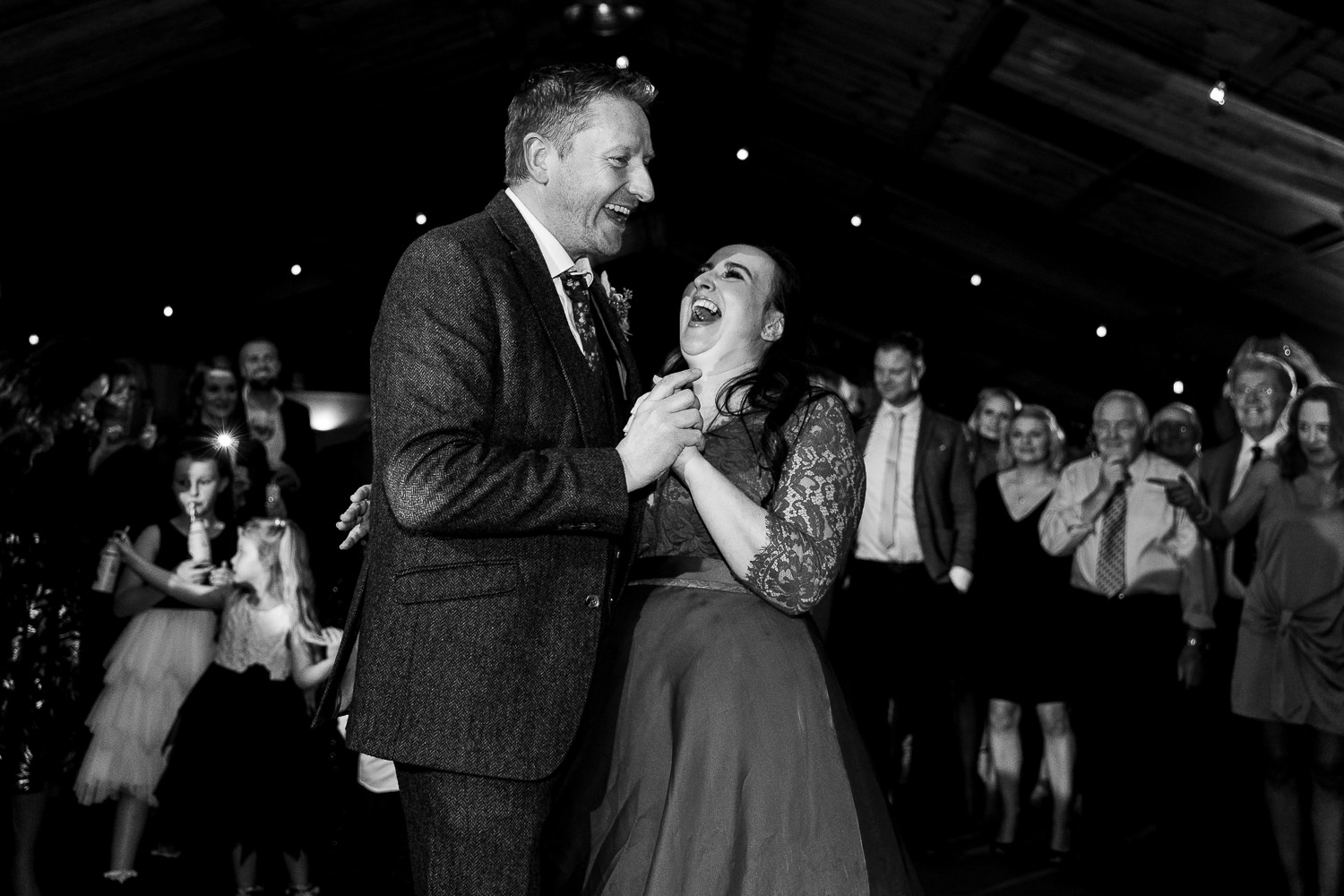 First dance laughing