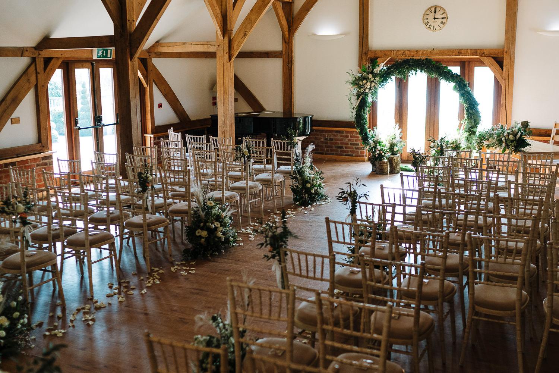 Sandhole Oak Barn ceremony room