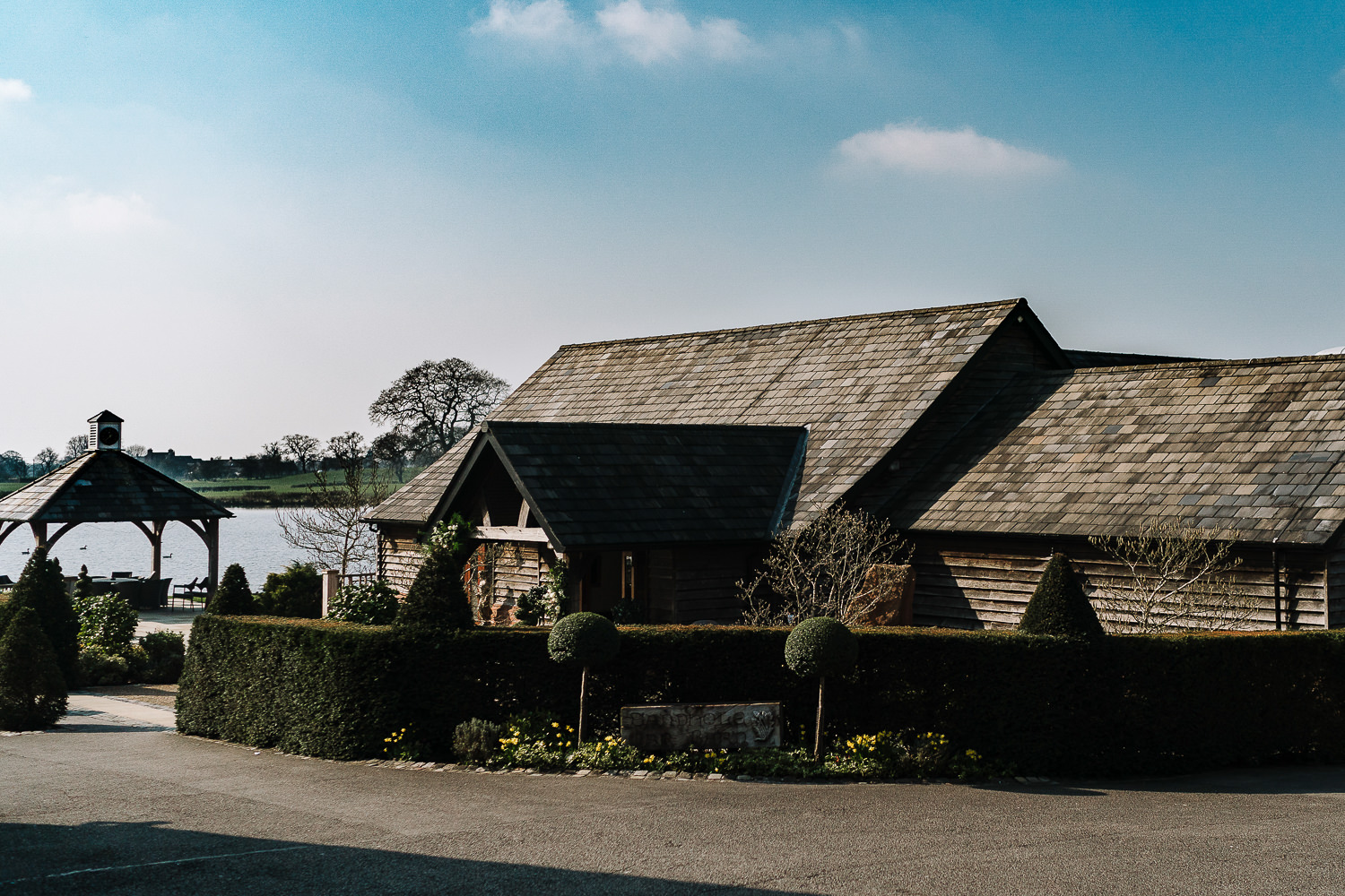 A photo of the barn
