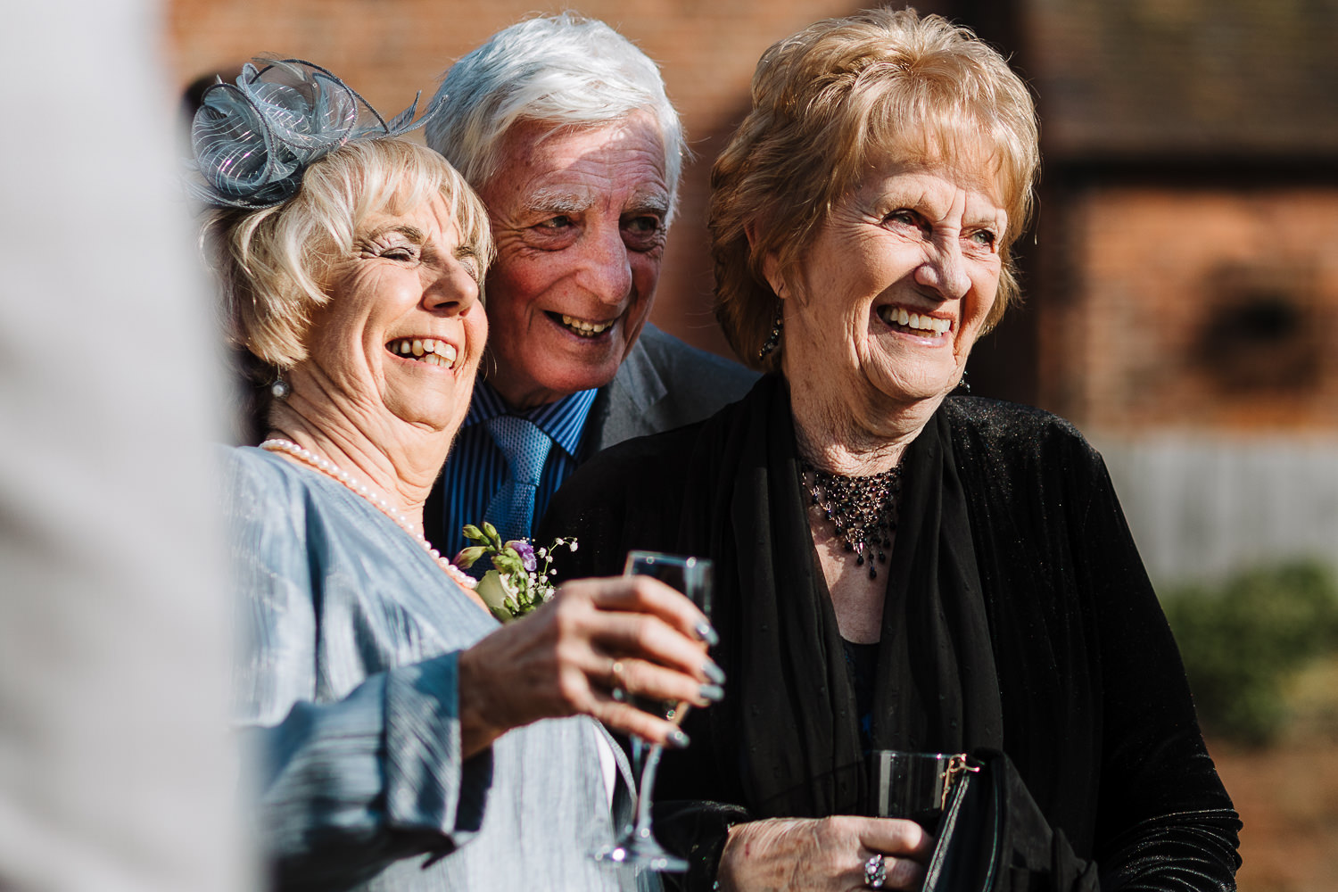 Grandparents laughing together