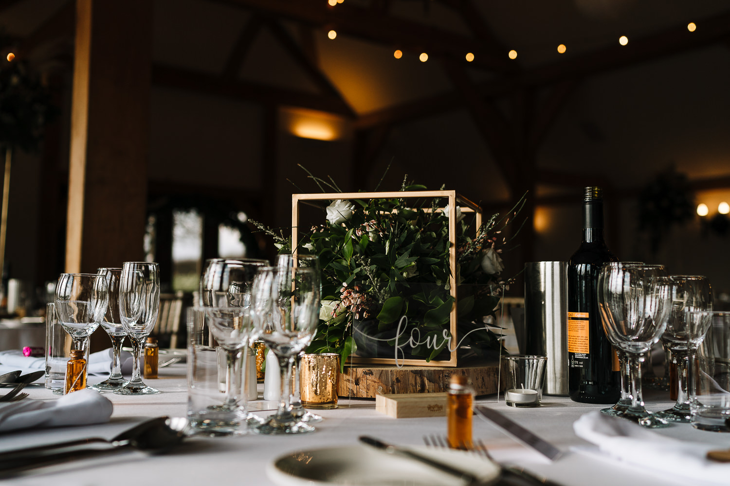 photo of the table for the wedding breakfast