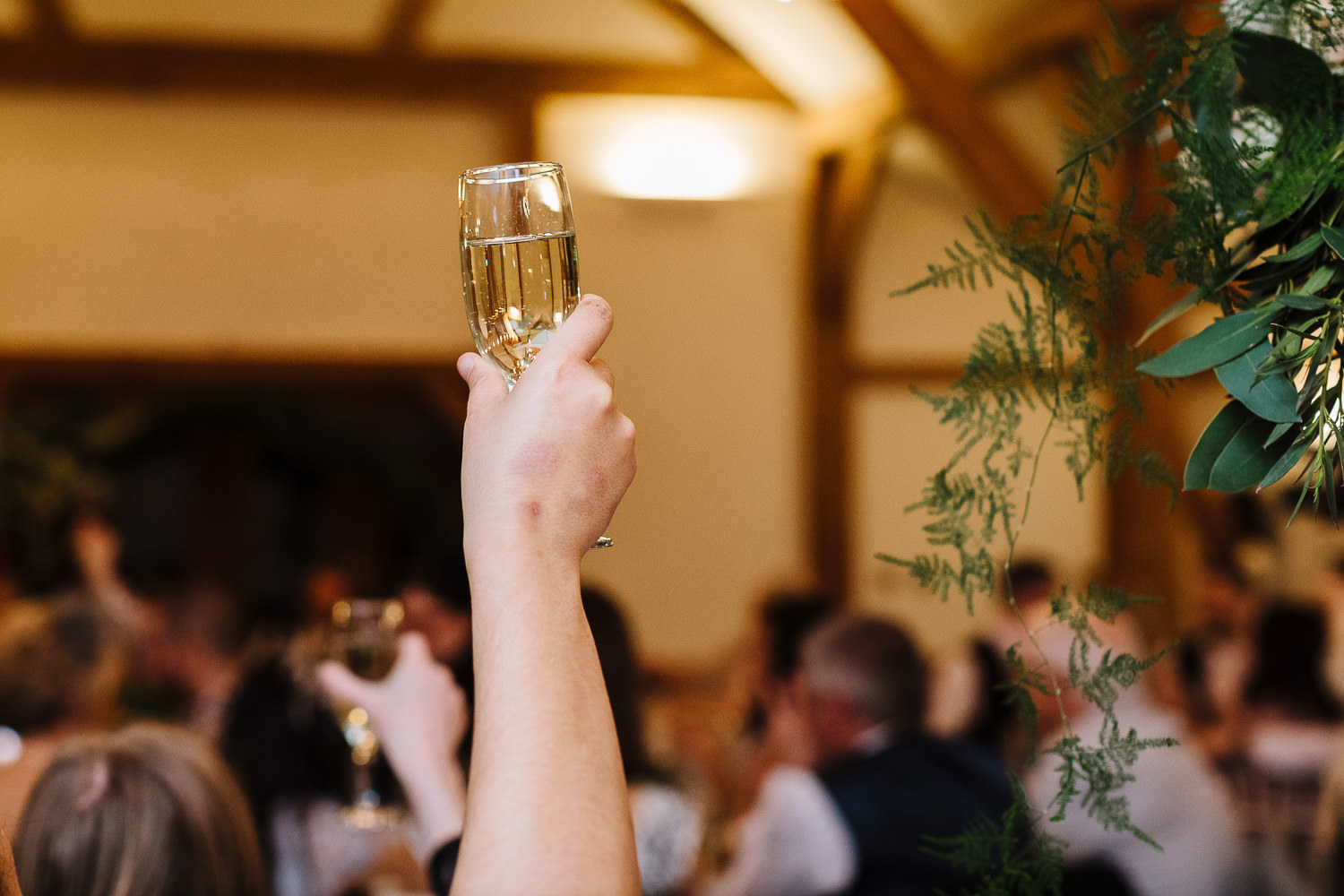 Drink in the air for a toast