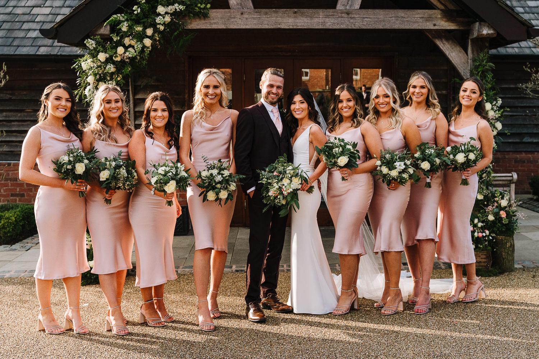 Bridesmaids photo at Sandhole Oak Barn