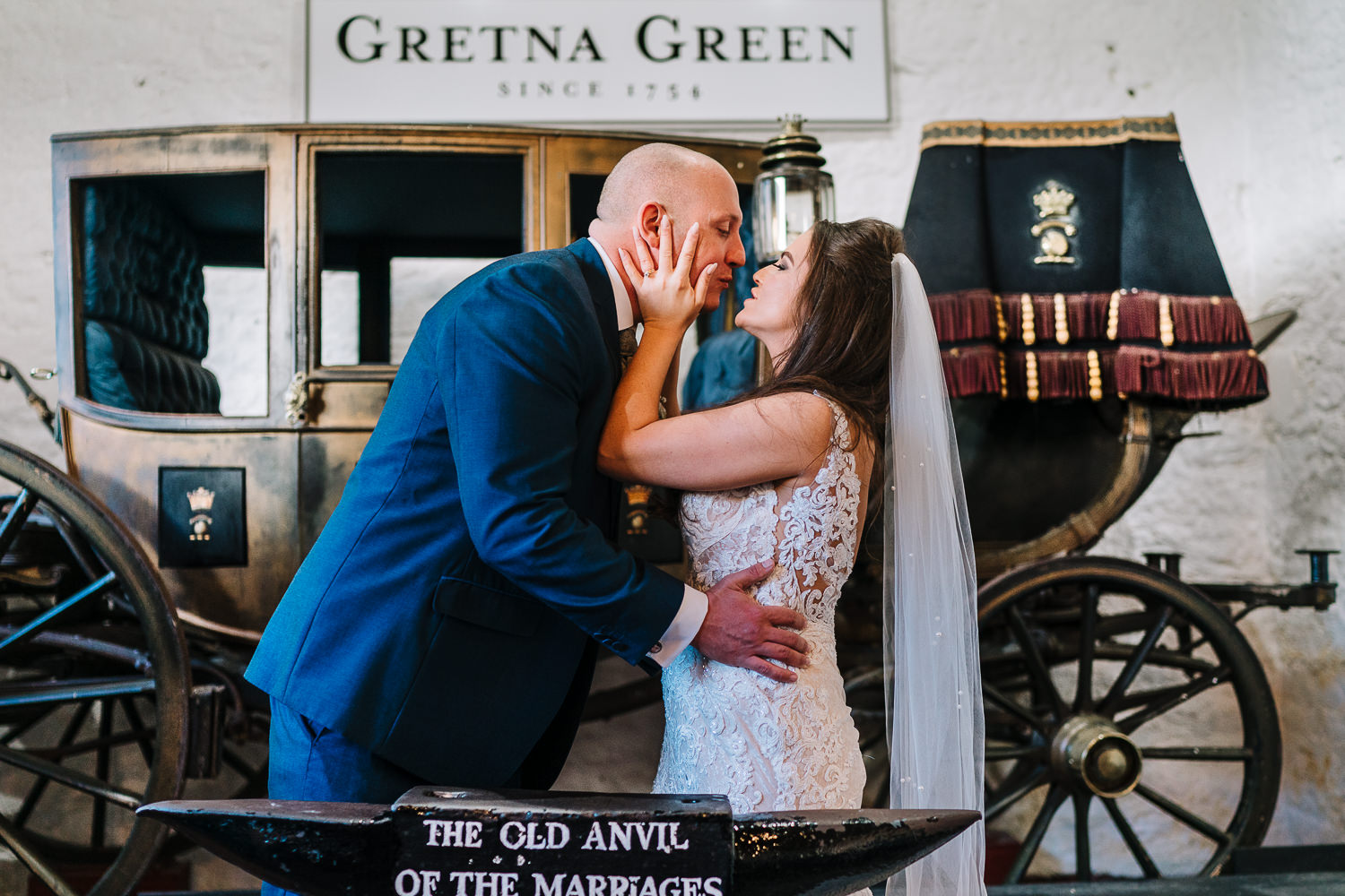 First kiss at Gretna Green