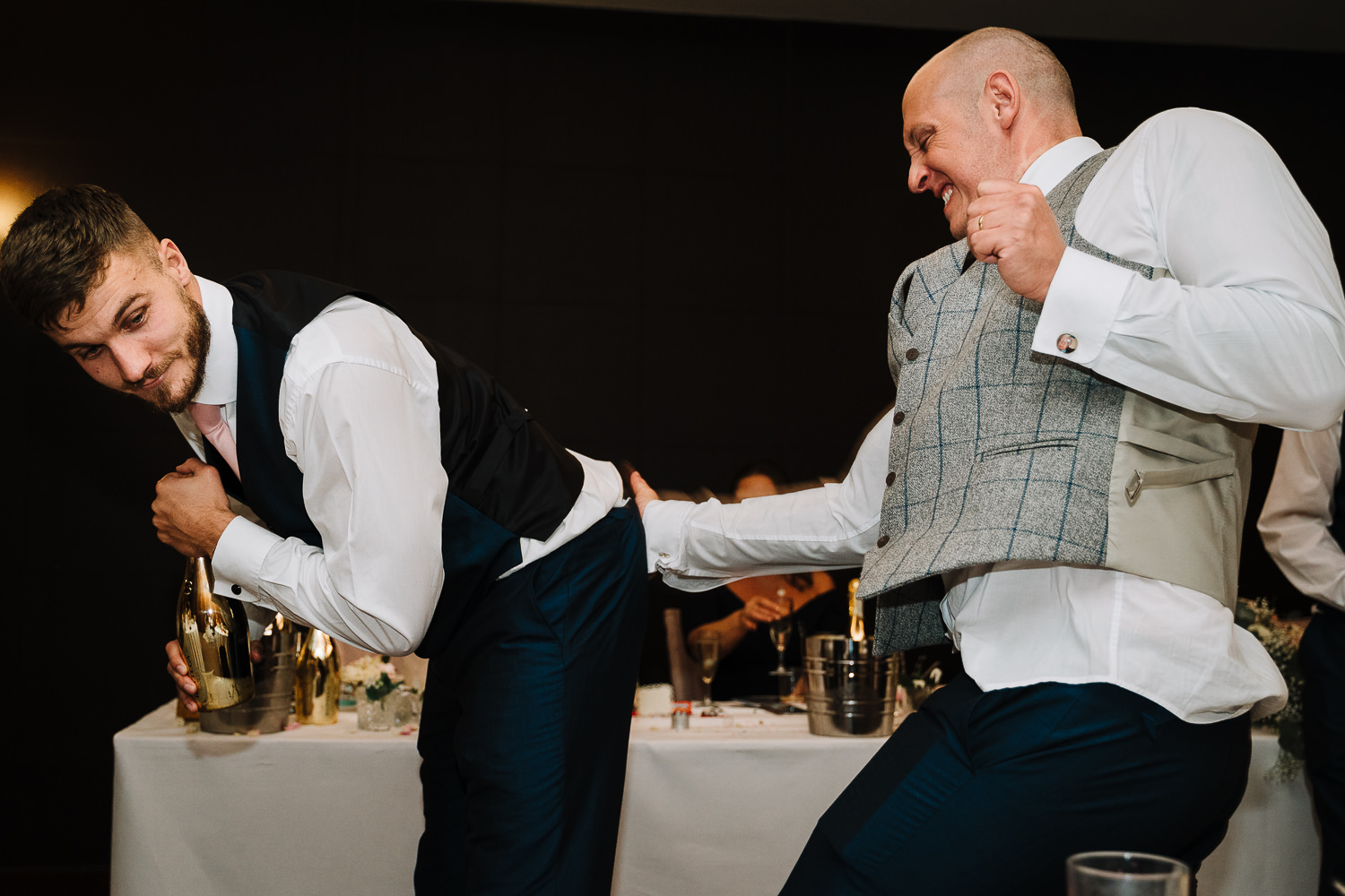 Groom hitting best mans bum in Gretna Green