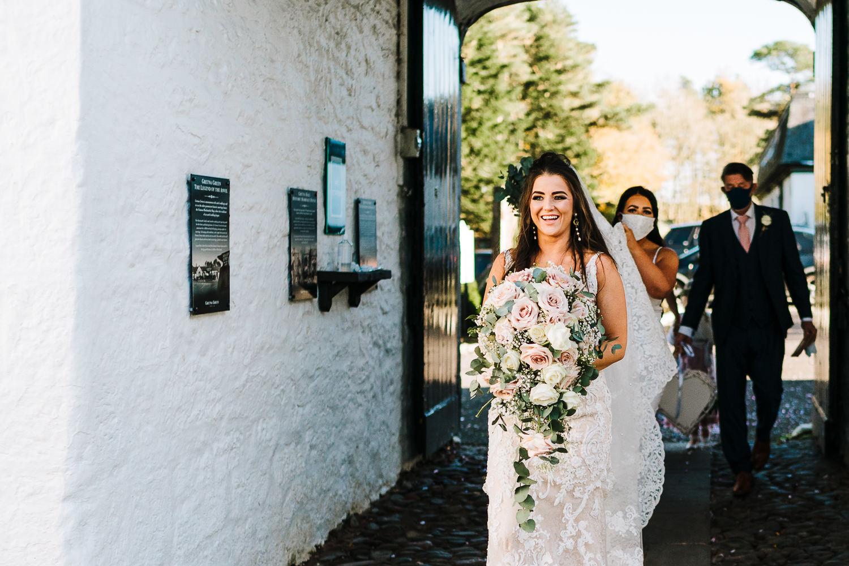 Bride walking into ceremony