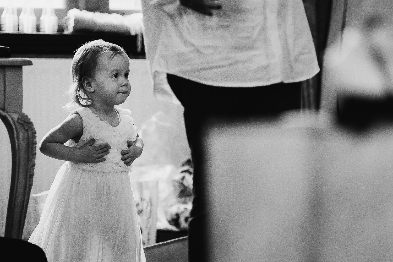 Flower girl in her dress