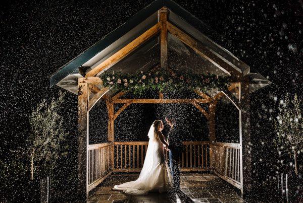 Creative wedding photo at Hartford Golf Course