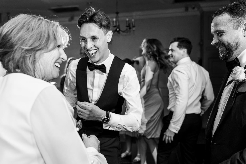 Groom dancing with his mum at Mottram Halll