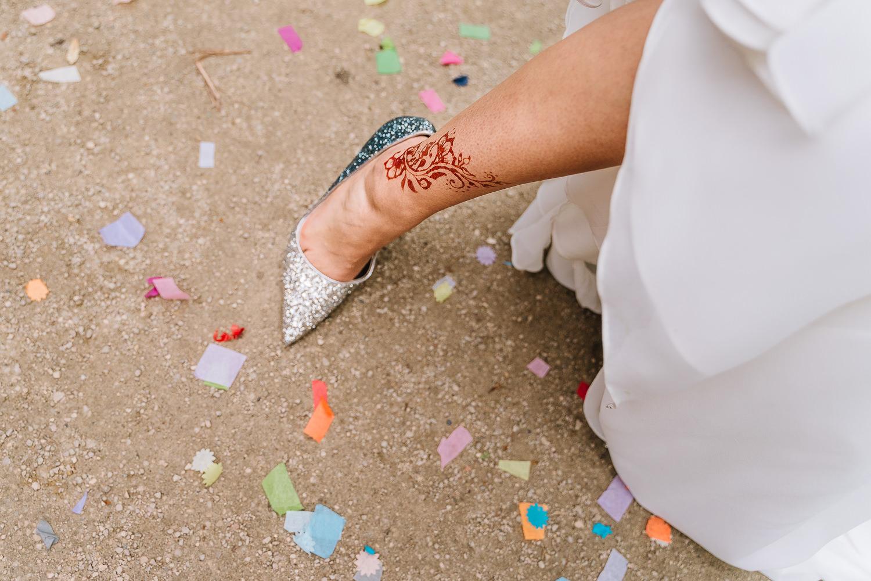Brides leg and shoes