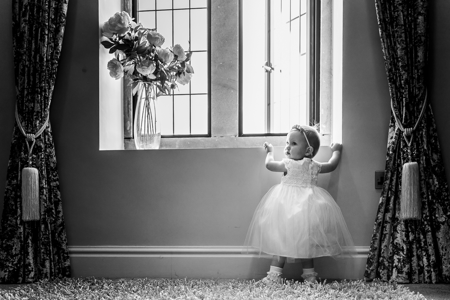Flower girl in the window at Merrydale Manor