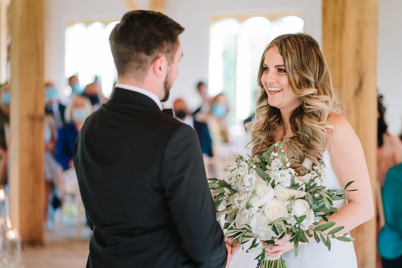 Wedding vows at Merrydale Manor