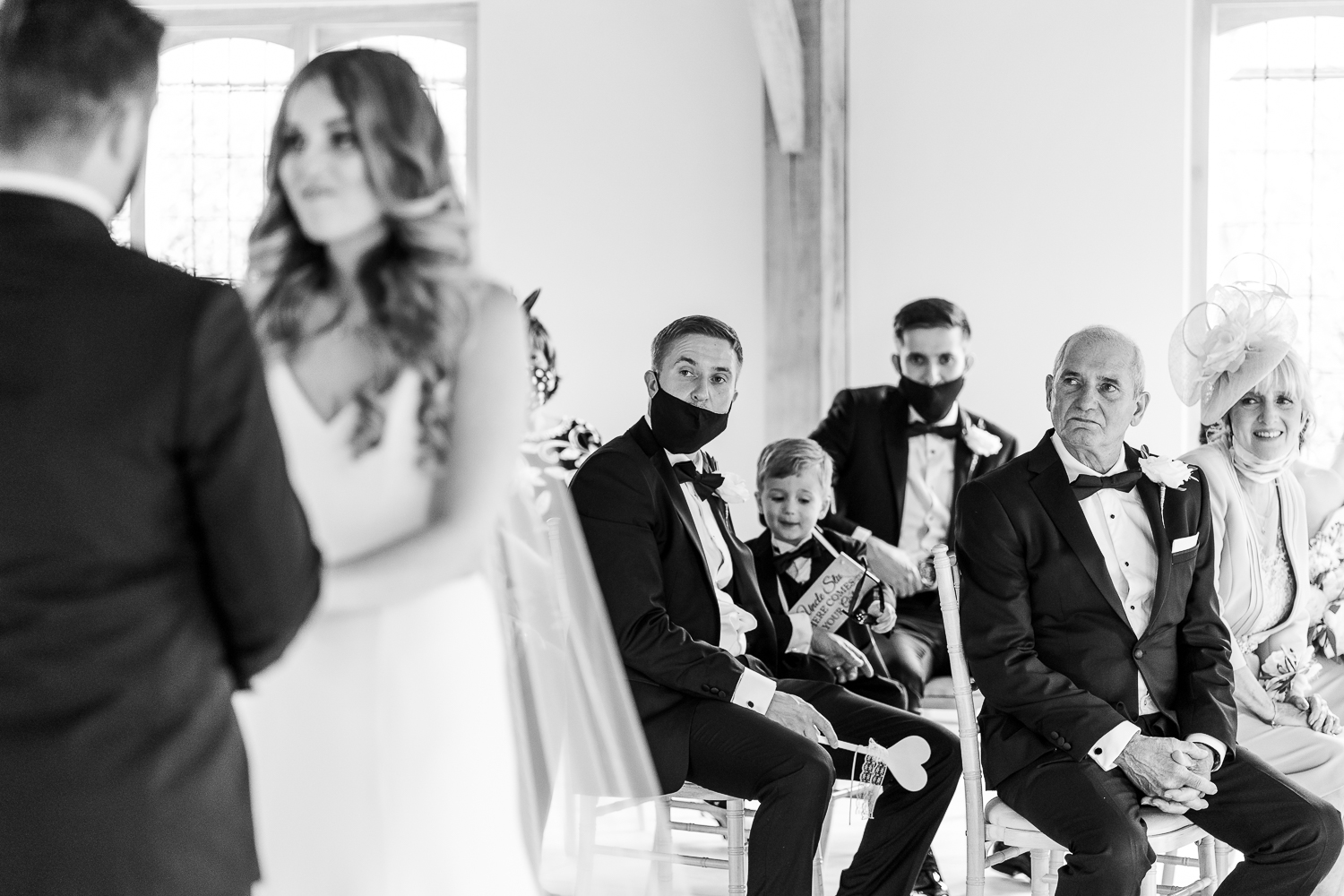Father of the bride looking on attending Merrydale Manor