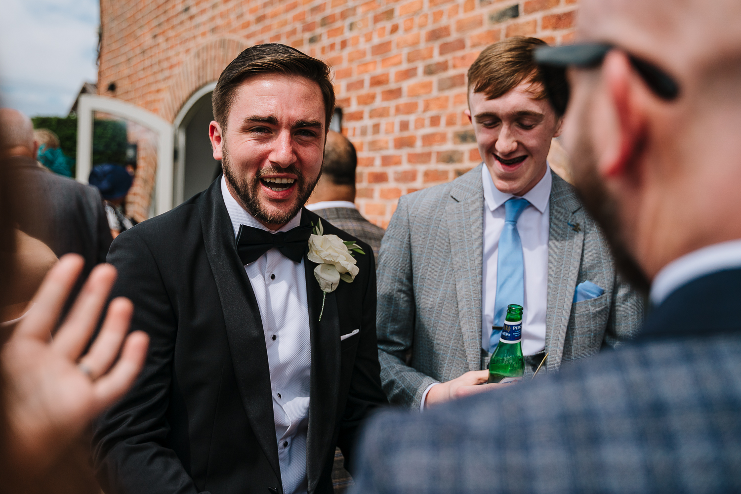 Groom talking to guests at Merrydale Manor