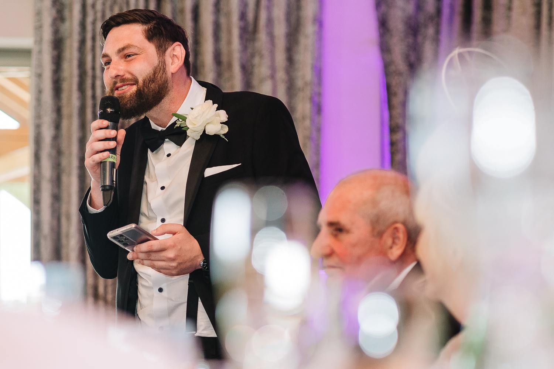Best man speech at Merrydale Manor