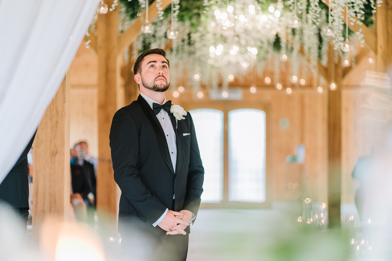Groom waiting in the ceremony room