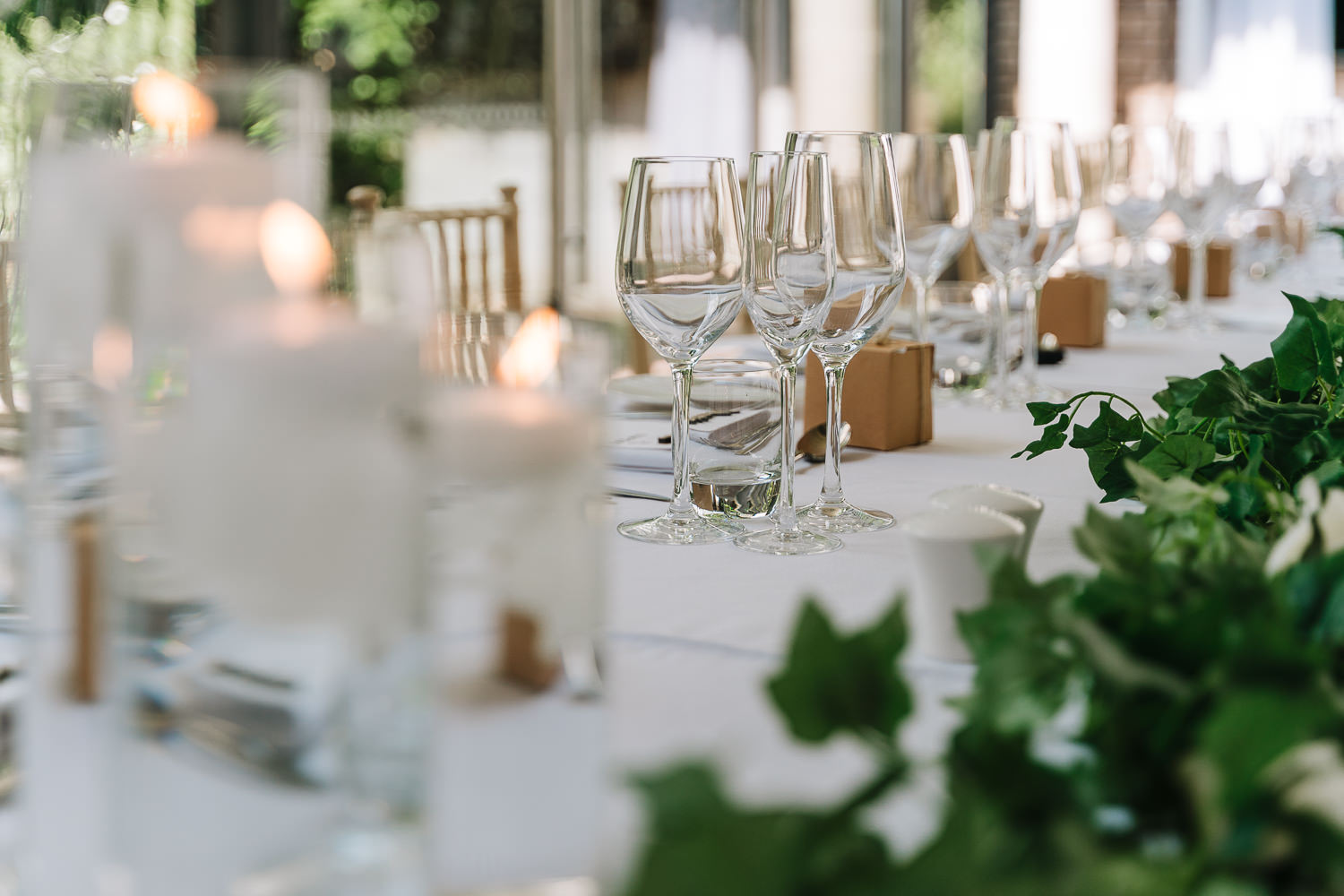 Photos of top table at Delamere Manor