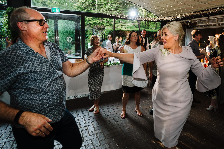 Parents dancing at Delamere Manor