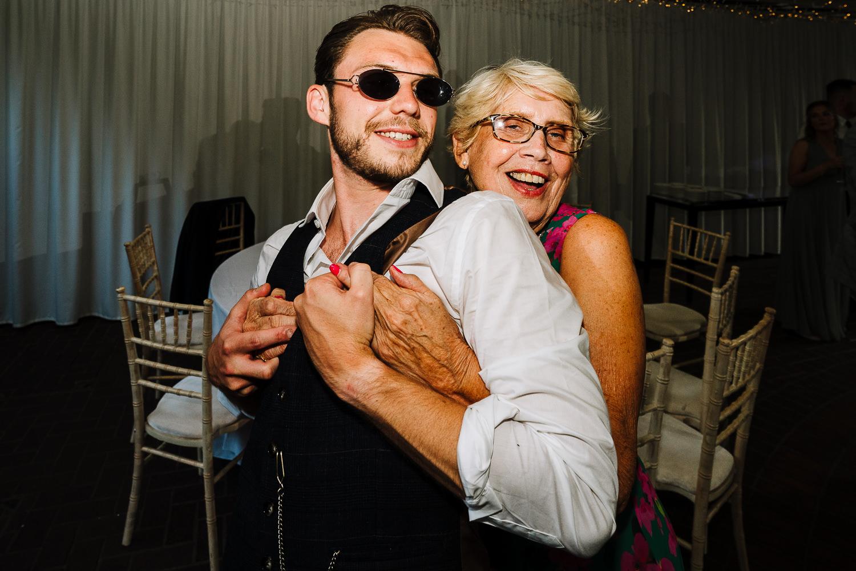 Gran and best man dancing