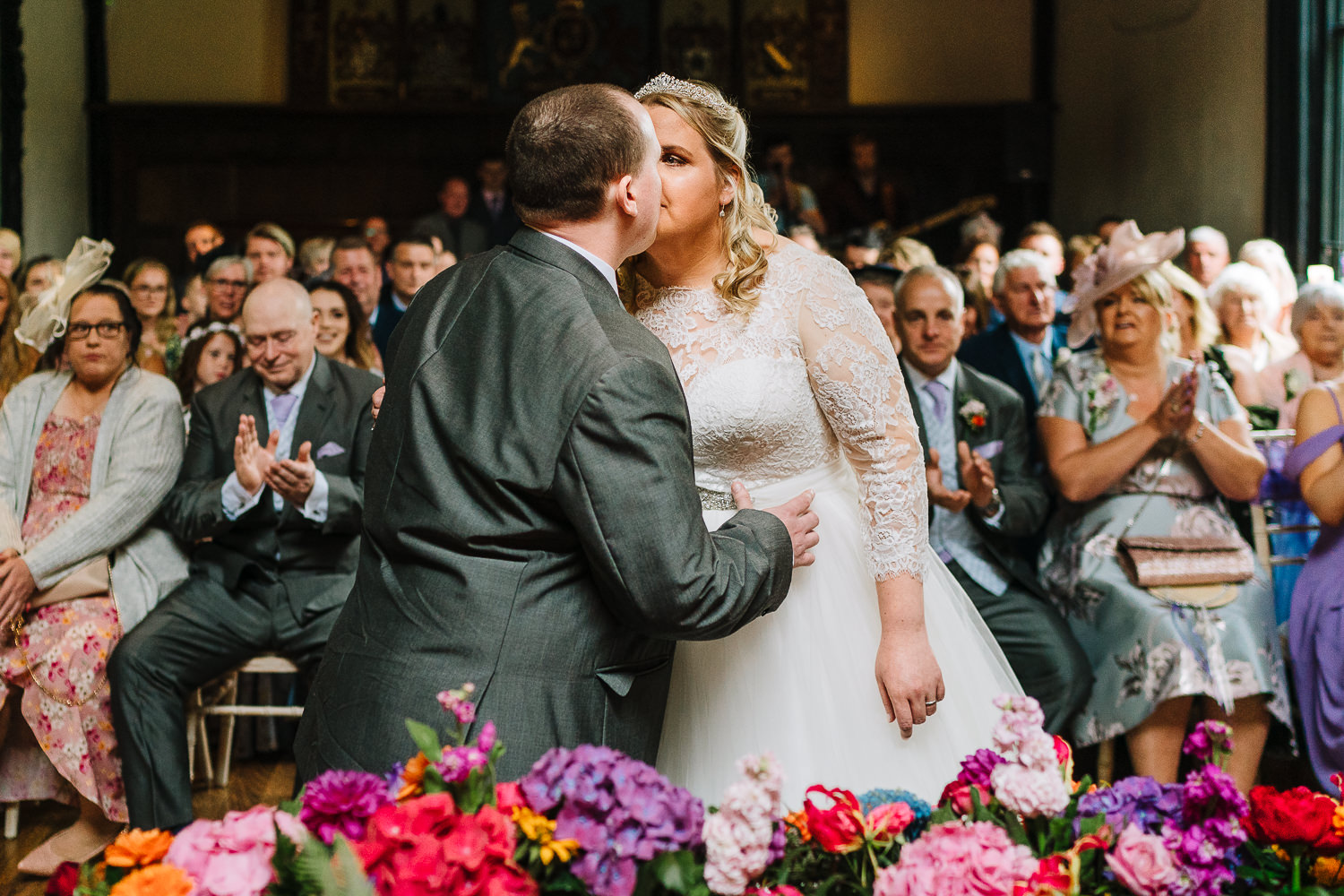 visually impaired couple tie the knot